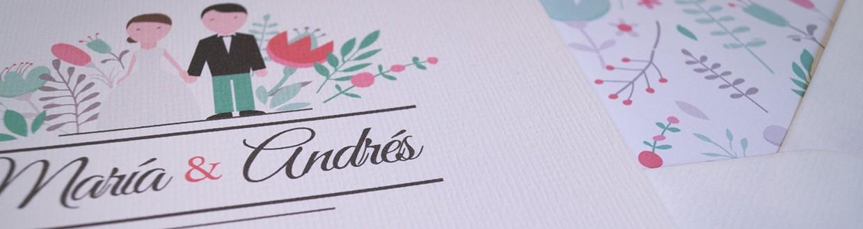 Invitaciones originales con sobres