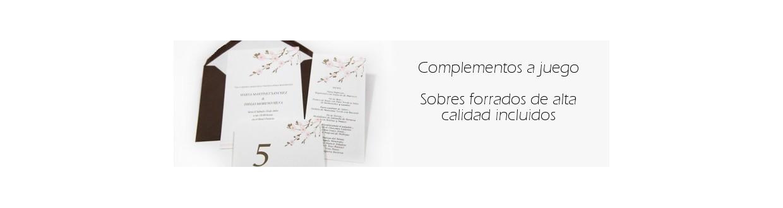 Invitaciones de boda y complementos de papelería