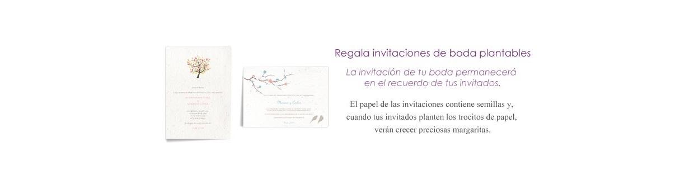 Invitaciones de boda plantables