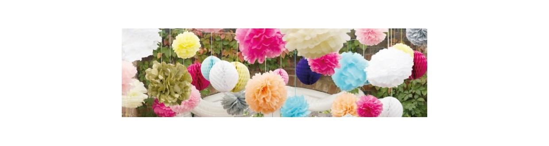 Pompones y decoración de colgar