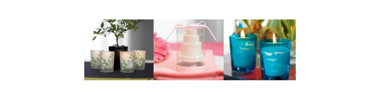 Velas y vasitos para velas