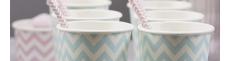 Vajillas y pajitas de papel