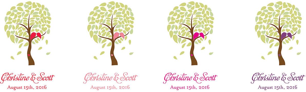 alfombra para bodas personalizada con arbol