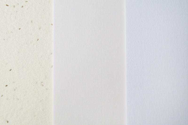 Comparativa de papeles verjurados y plantable
